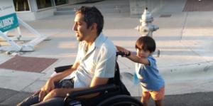 Jason Da Silva con il figlio 1