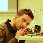 Giulio Berretta mentre lavora ai Voice Instruments