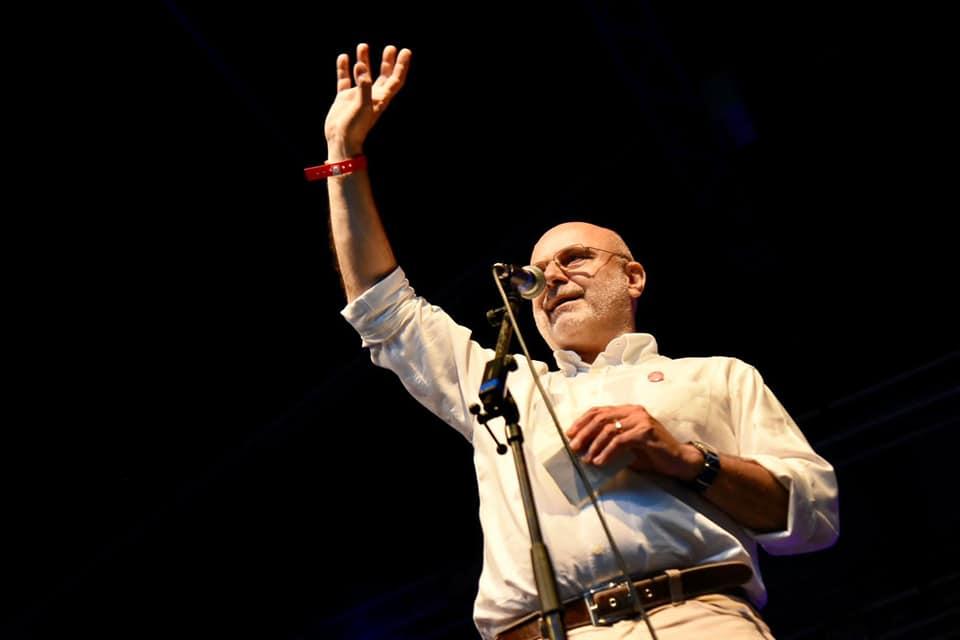 Il direttore del FDU, Danilo De Biasio, sul palco del Magnolia