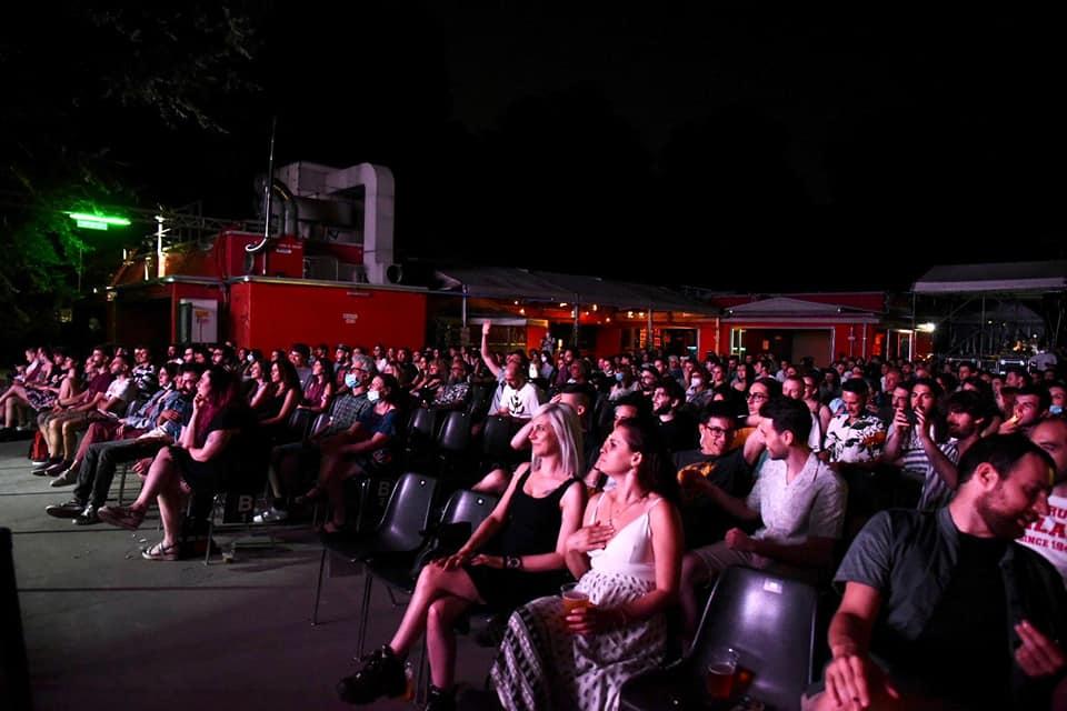 Il pubblico alla fine del concerto